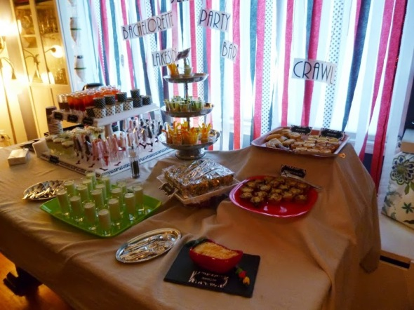 Bachelorette party buffet