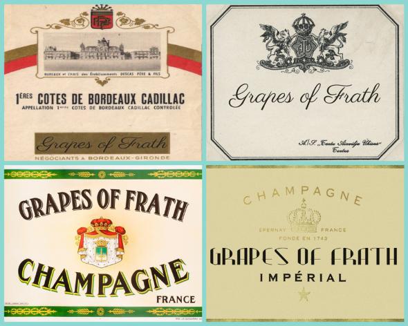 Grapes of Fraith wine bottle labels